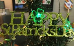 Lexington, KY. Ms. Bennington decorates a mini Christmas tree for every holiday in her office. At this time, it's adorned with Saint Patrick's Day decor.