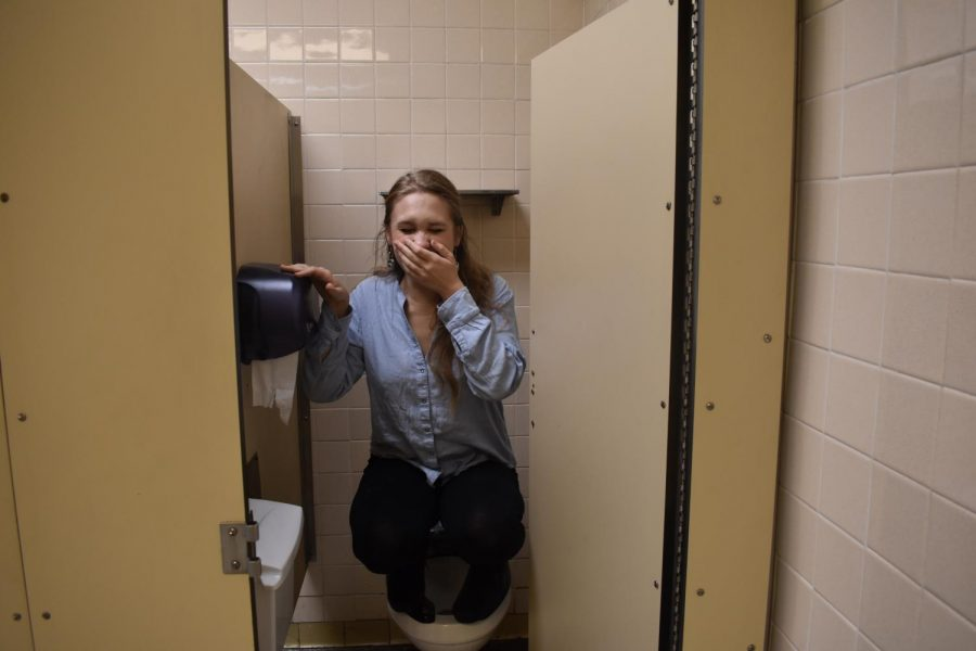 Lexington, KY. A student dealing with the lack of soap in the restroom.