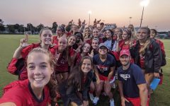 Lady Generals celebrate a recent win against Lady Cougars! (Lady Generals Varsity Team, picture taken from LHS Girls Soccer Twitter, with approval of Taylor Roden)