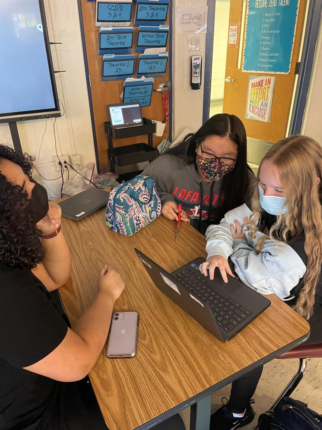 Lafayette students doing in-person learning during the 2021-2022 school year.