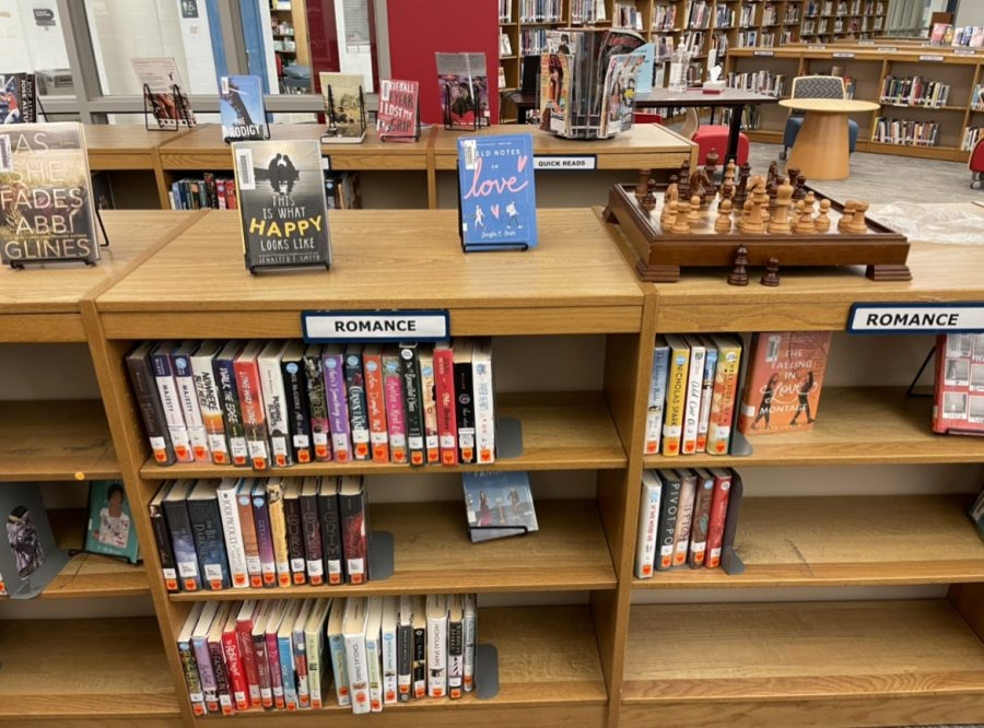 Lexington, KY. The romance section of the Lafayette library.